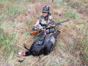 A successful hunter during one of our NWTF youth mentor hunt opportunities!